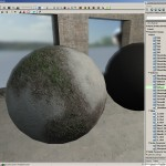 Here is the 3blend material being used on a sphere.